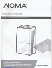 noma dehumidifier 043-5796-4 instructions