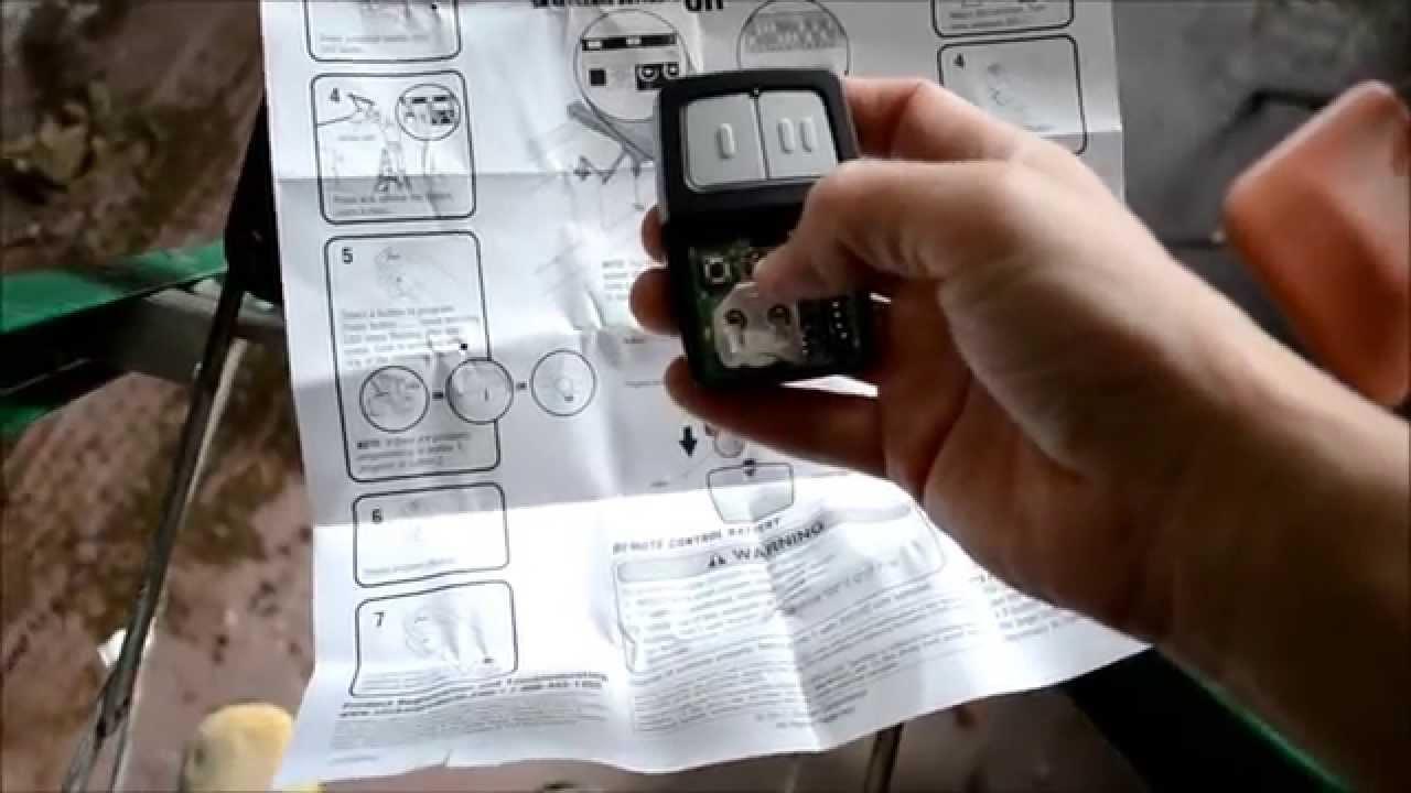 clicker universal garage door opener programming instructions