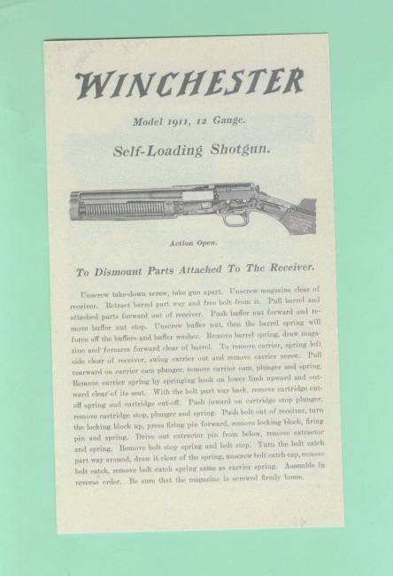 winchester model 490 owner manual