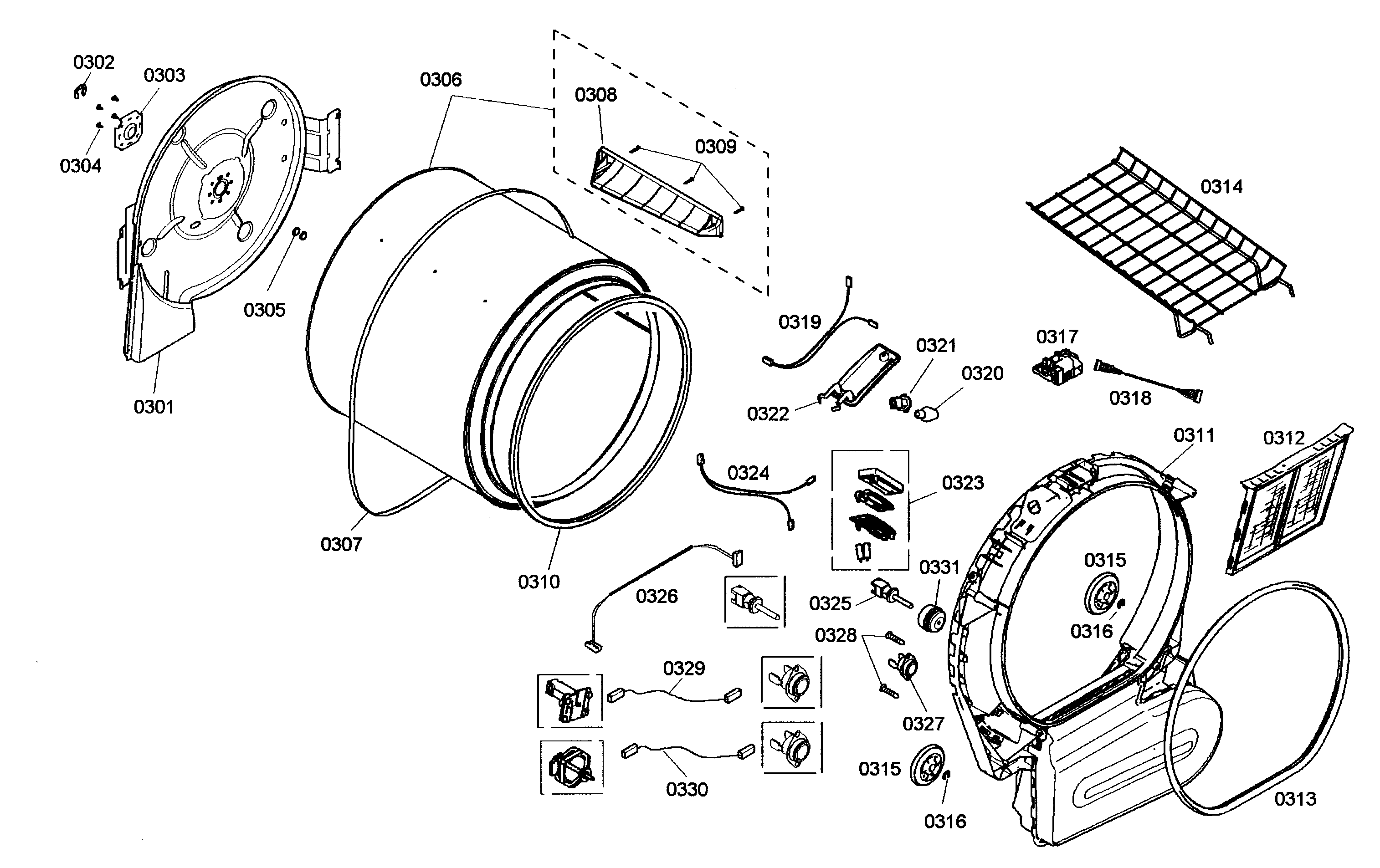 Bosch nexxt 500 series dryer repair manual