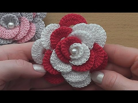 Easy crochet rose tutorial