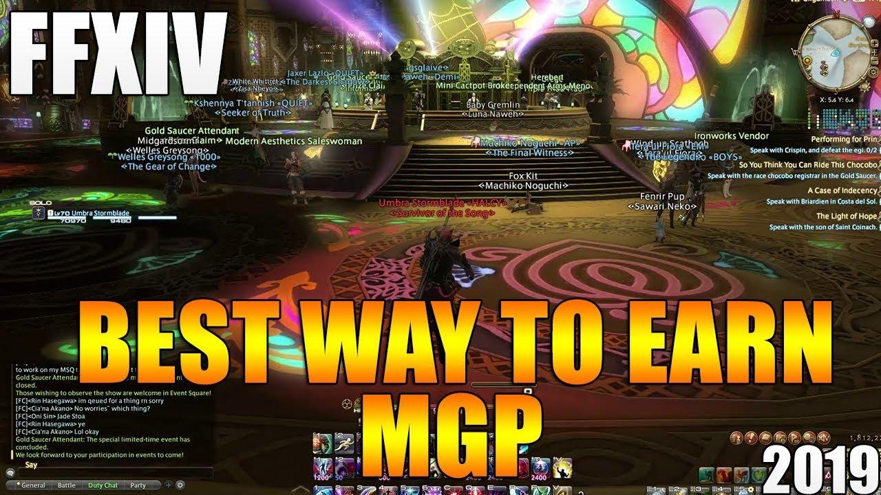 Ffxiv how to make good mgp