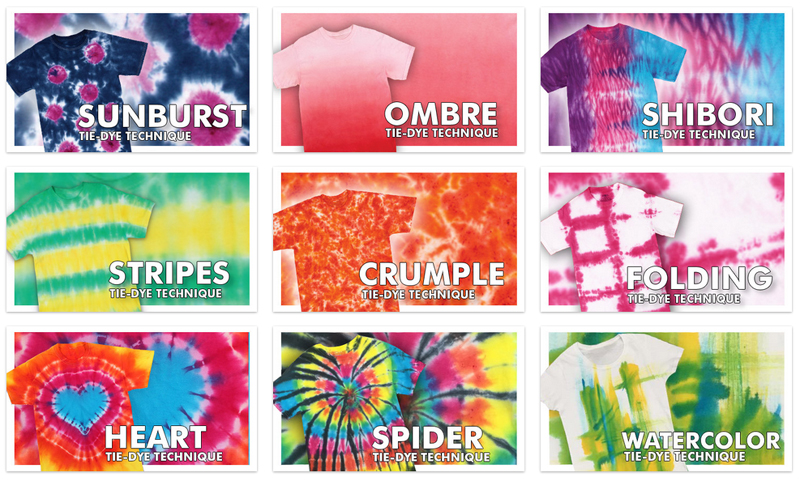 tie dye instructions with pictures