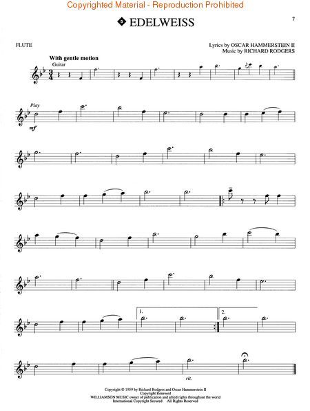 Edelweiss violin sheet music pdf