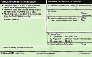 Return to sender instructions