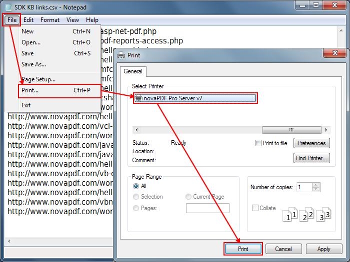 Csv file to pdf converter