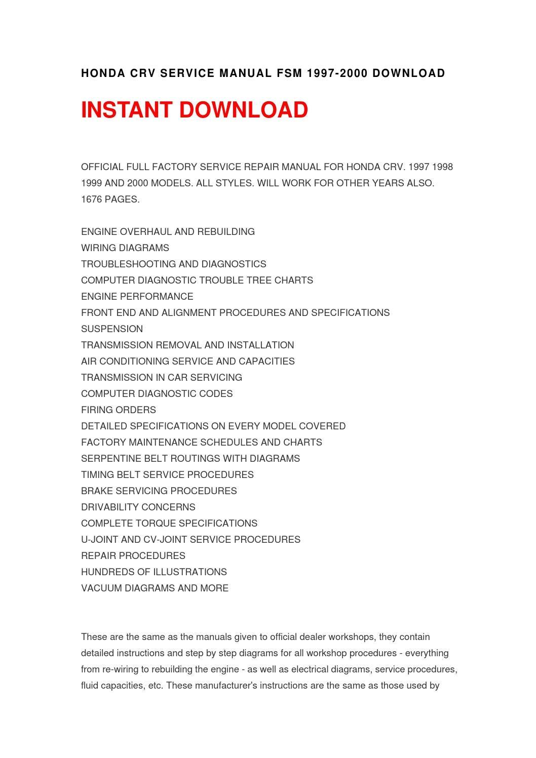 2015 honda cr-v service manual download