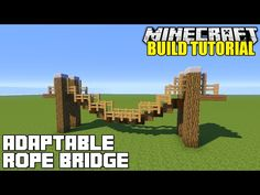 Minecraft how to build bridges fast