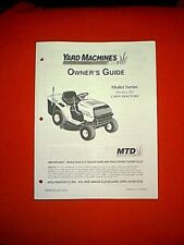 Mtd yard machine owners manual