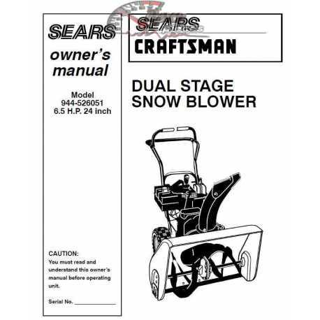 craftsman 944.527171 27 snowblower manual