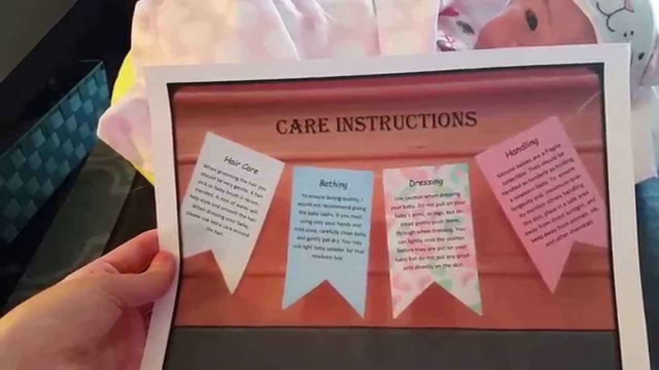 silicone reborn care instructions