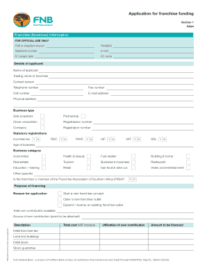 Fnb online business loan application