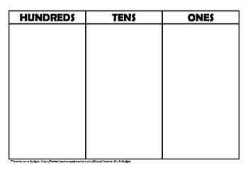 Place value chart to hundreds pdf