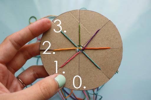Friendship bracelet instructions with wheel