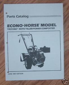 Troy bilt pony parts manual
