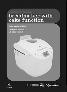 lumina bread maker instructions