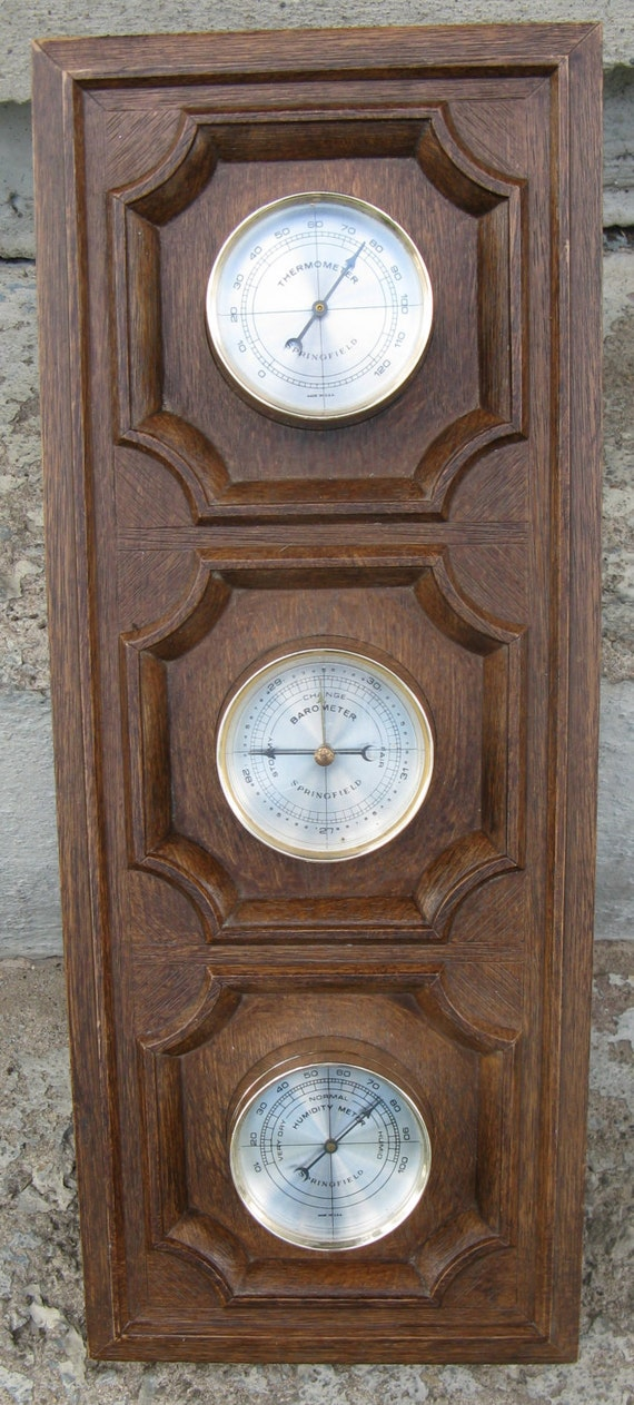 springfield thermometer barometer humidity manual