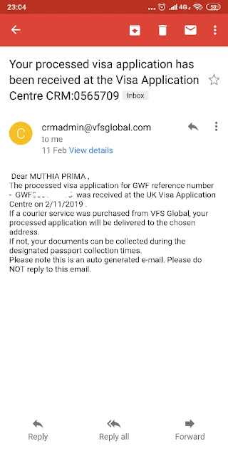 What is visa application for gwf