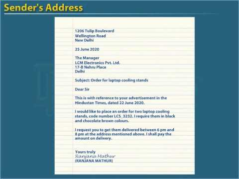 Job application examples for class 11