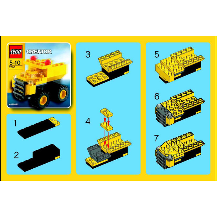 lego dump truck instructions 4202