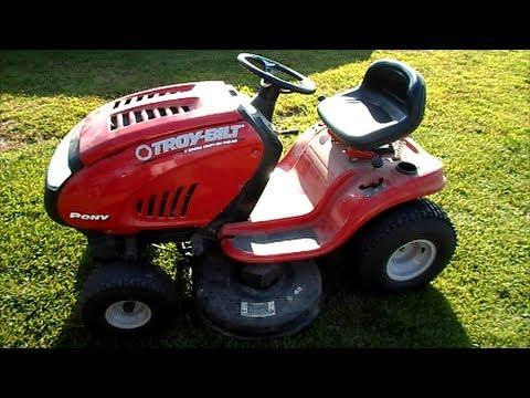 troy-bilt pony 17.5hp ride-on lawn mower manual
