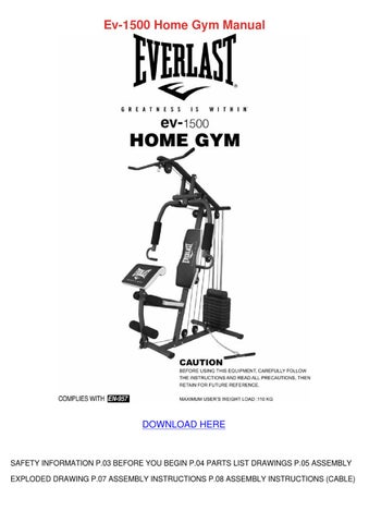 Everlast multi gym assembly instructions