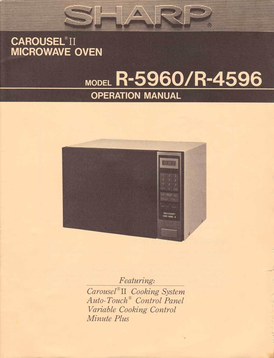 sharp carousel 1200w microwave manual