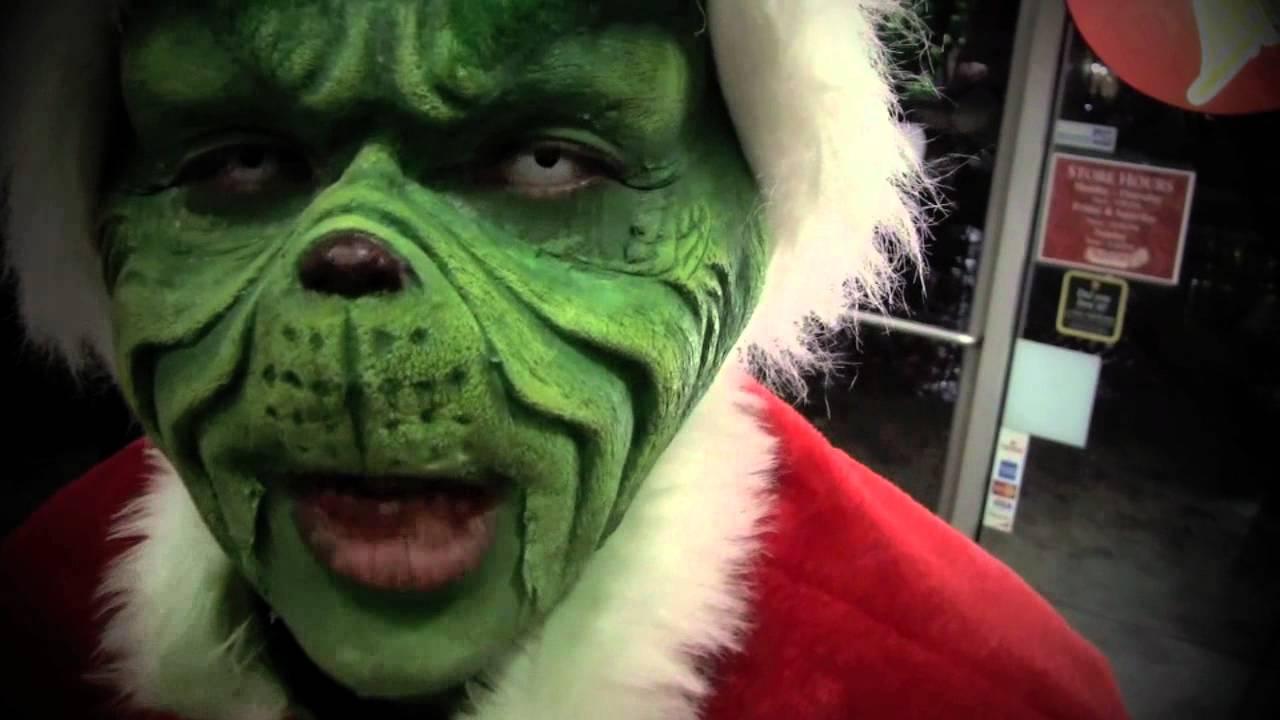 Jim carrey grinch makeup application