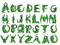 dragonfly alphabet lettering instructions
