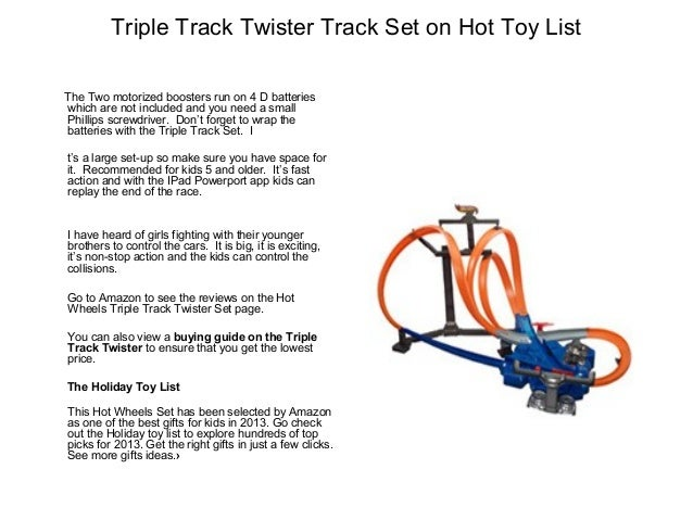 hot wheels triple track twister instructions