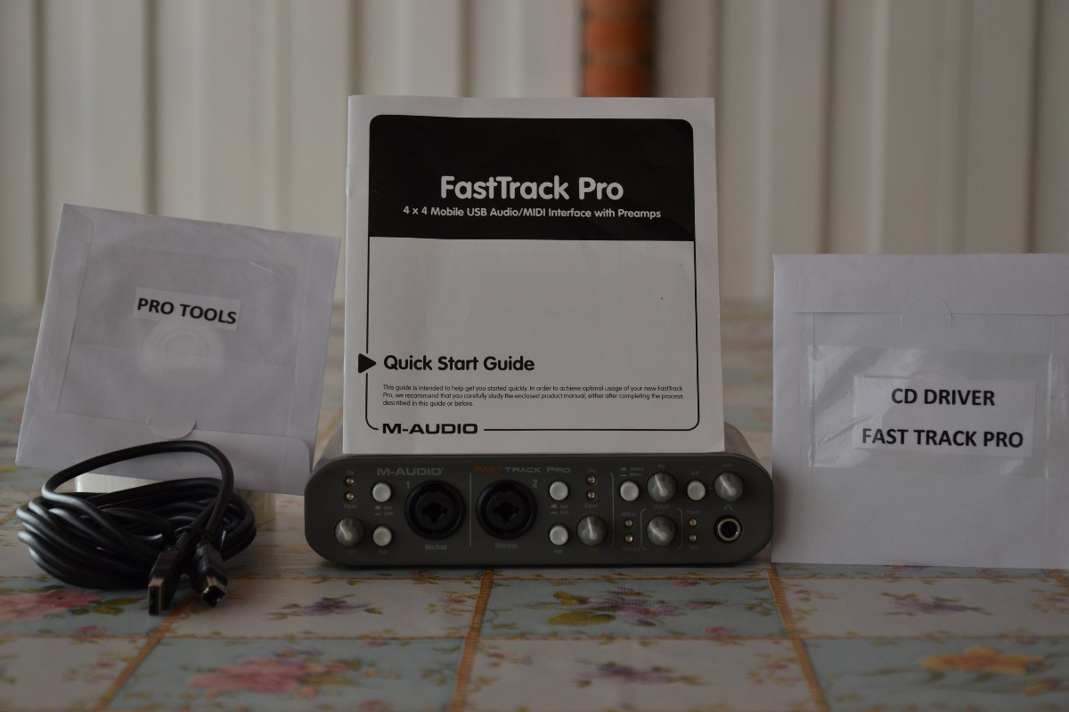 m-audio fast track pro usb audio interface manual