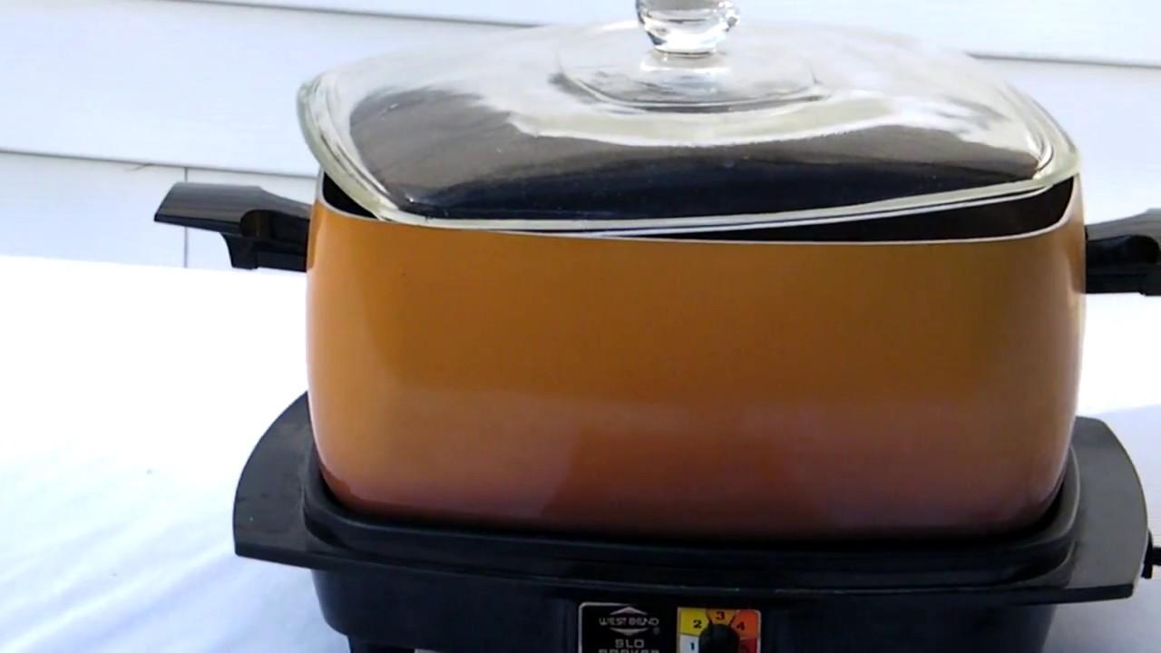 Old west bend slow cooker manual