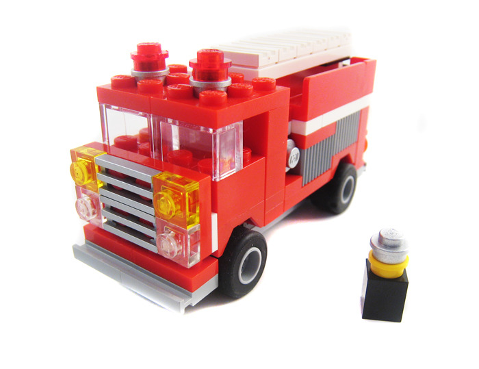 lego city fire van instructions