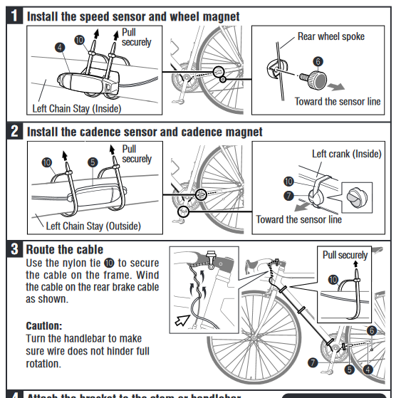 specialized sport bike computer instructions