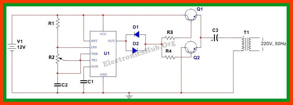 12vdc to 220vac inverter circuit diagram pdf