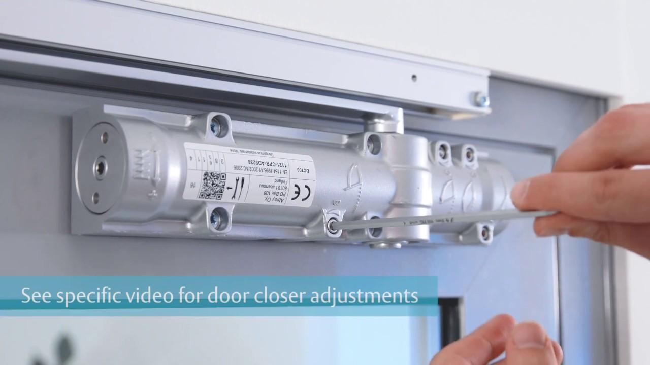 kaba door closer adjustment instructions