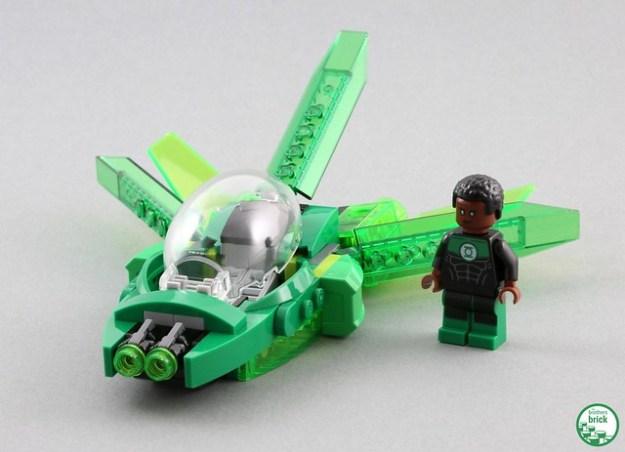 green lantern spaceship lego instructions