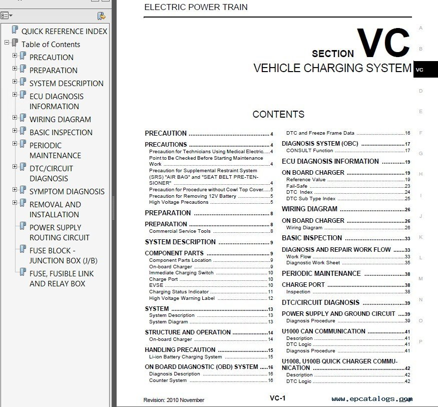 2013 nissan leaf service manual