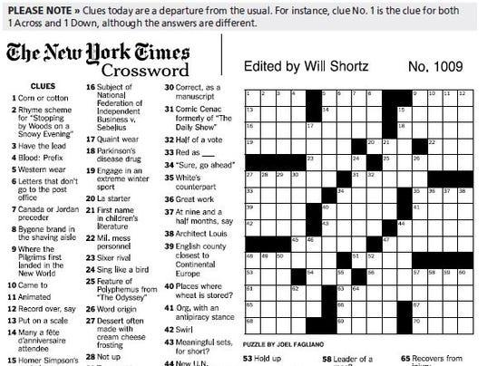 New york times sunday crossword pdf