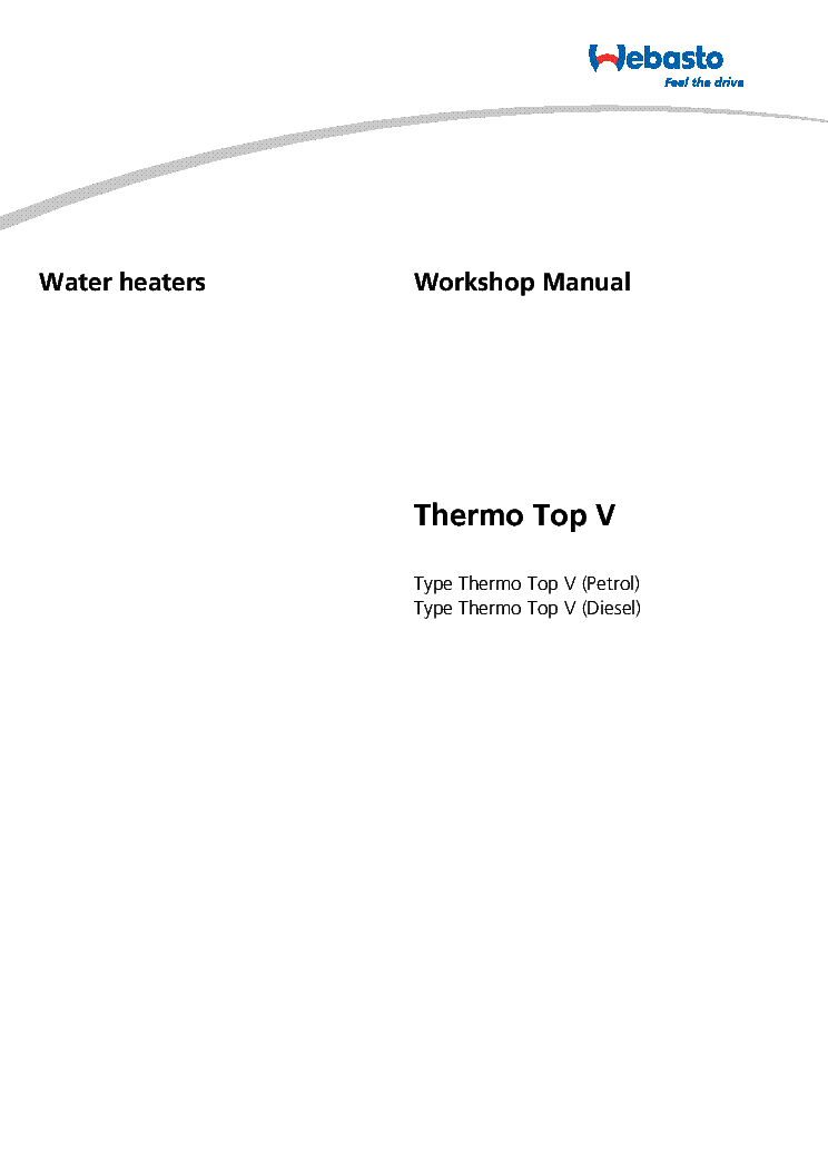 Webasto thermo top v manual