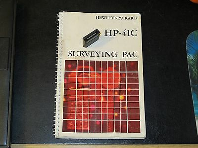 Hp 41 survey pac manual