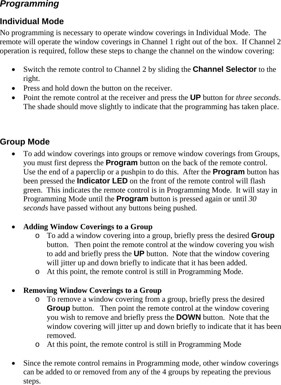 Hunter douglas remote control manual