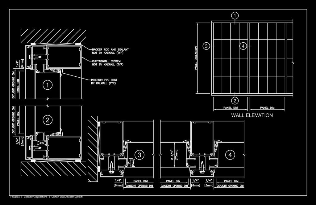 Curtain wall details dwg pdf