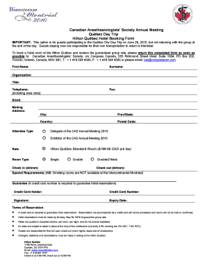 Hotel reservation form template pdf