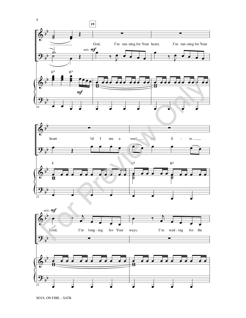 Soul on fire sheet music pdf