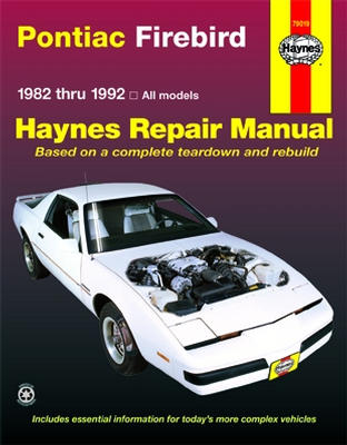 pontiac firebird v8 1970-1981 all v8 models automotive repair manual