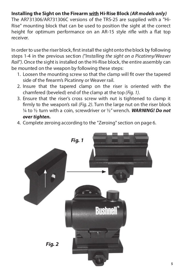 red dot sight instructions