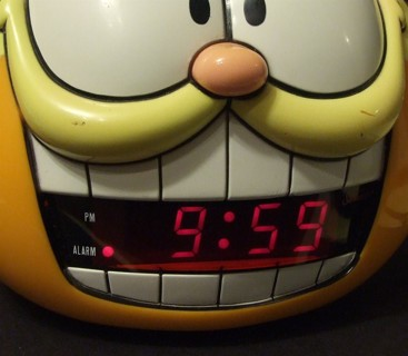 garfield alarm clock instructions 883-100