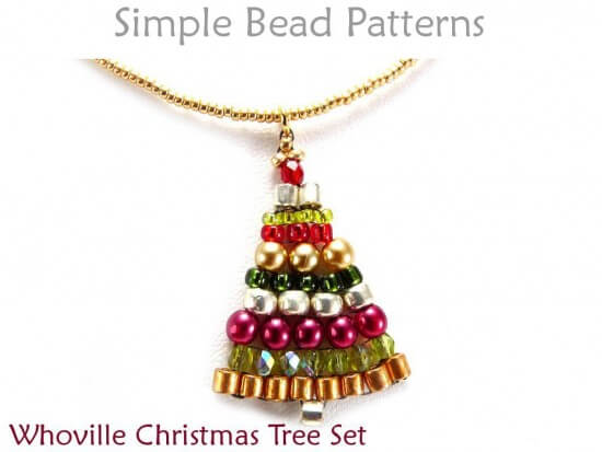 christmas tree earrings instructions