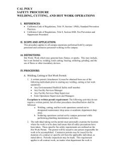 Hot work permit procedure pdf
